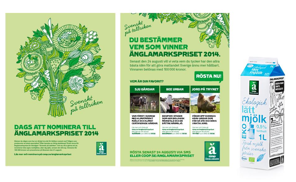 Anglamarkspriset webbilder ads milk